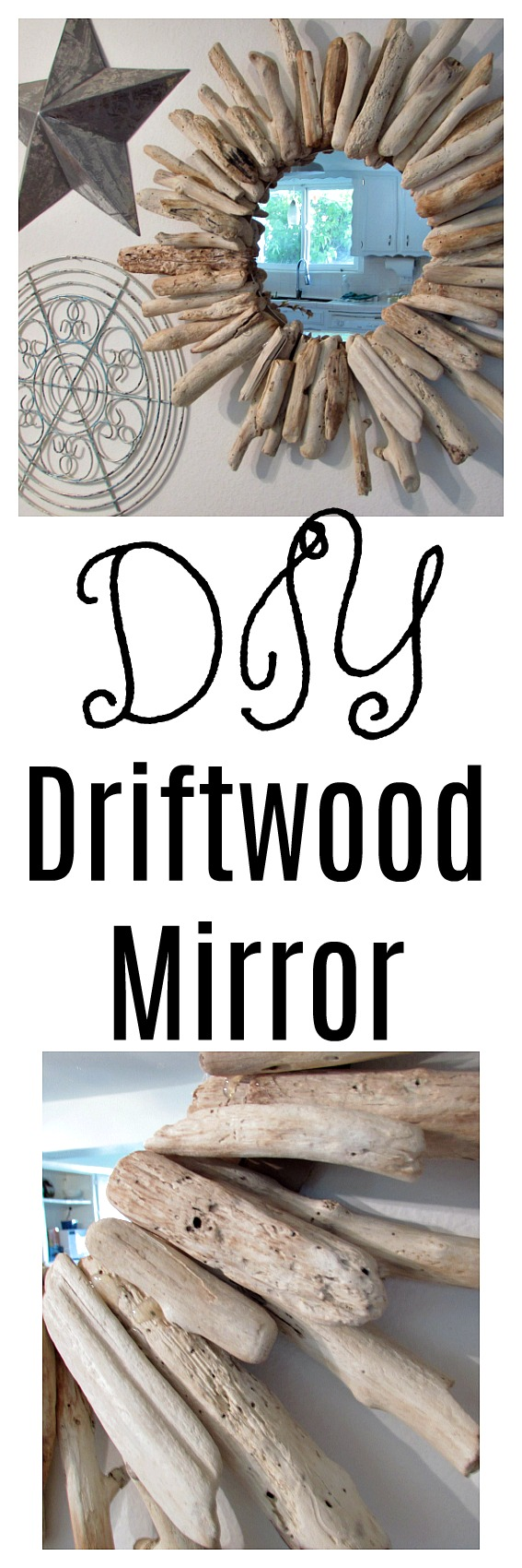 DIY Driftwood Mirror Collage