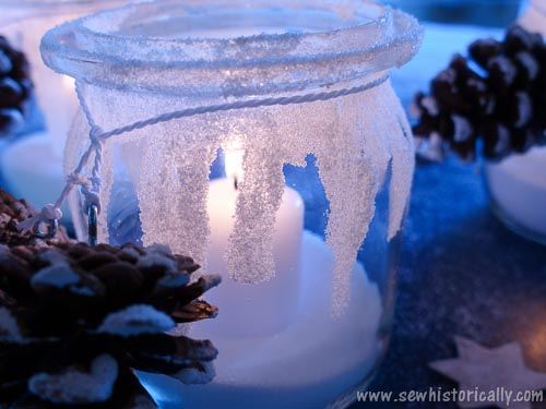 DIY-Icicle-Candle-Holders-Winter-Luminaries-With-Snowy-Pine-Cones-20