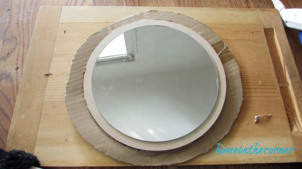 driftwood mirror cardboard frame