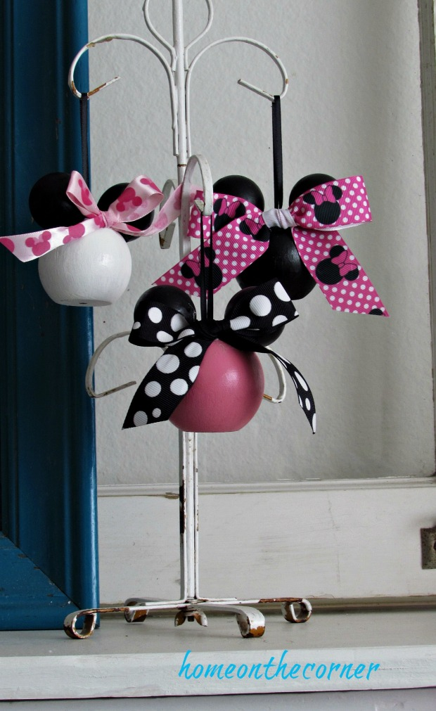 minnie mouse ears hanging trio