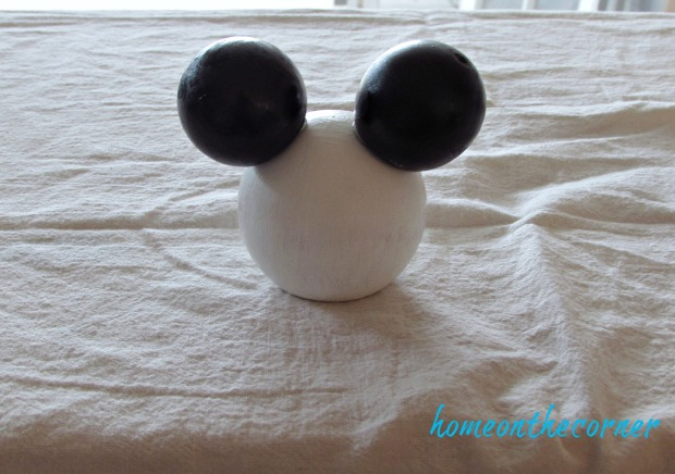 minnie mouse wooden disney ears black and white