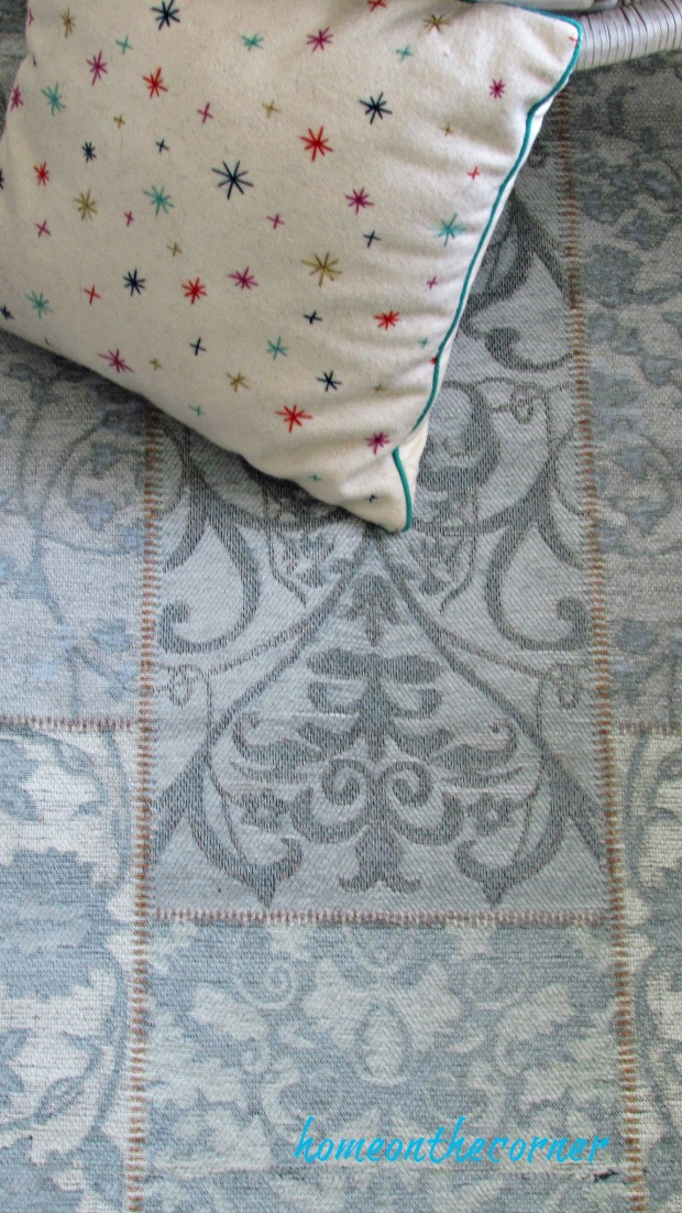 natural area rug close up turquoise patchwork blue moon