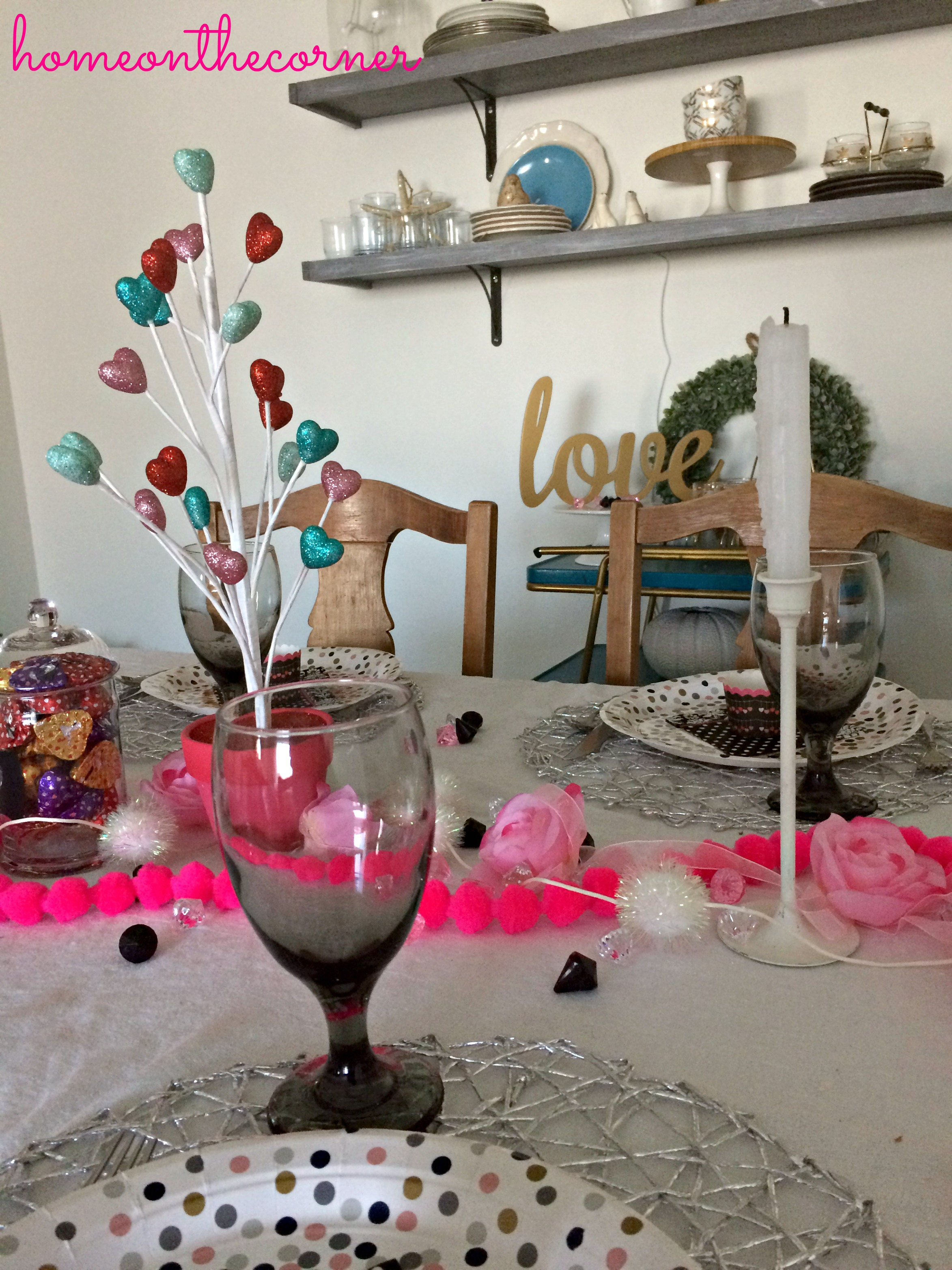 Valentine's Day Tablescape Across