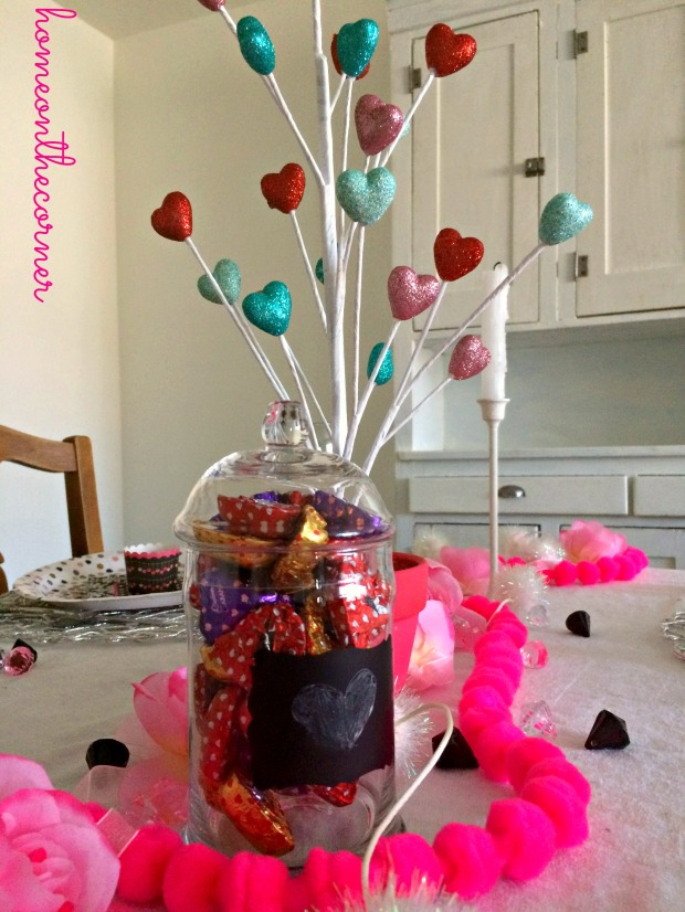 Valentine's Day Tablescape Center
