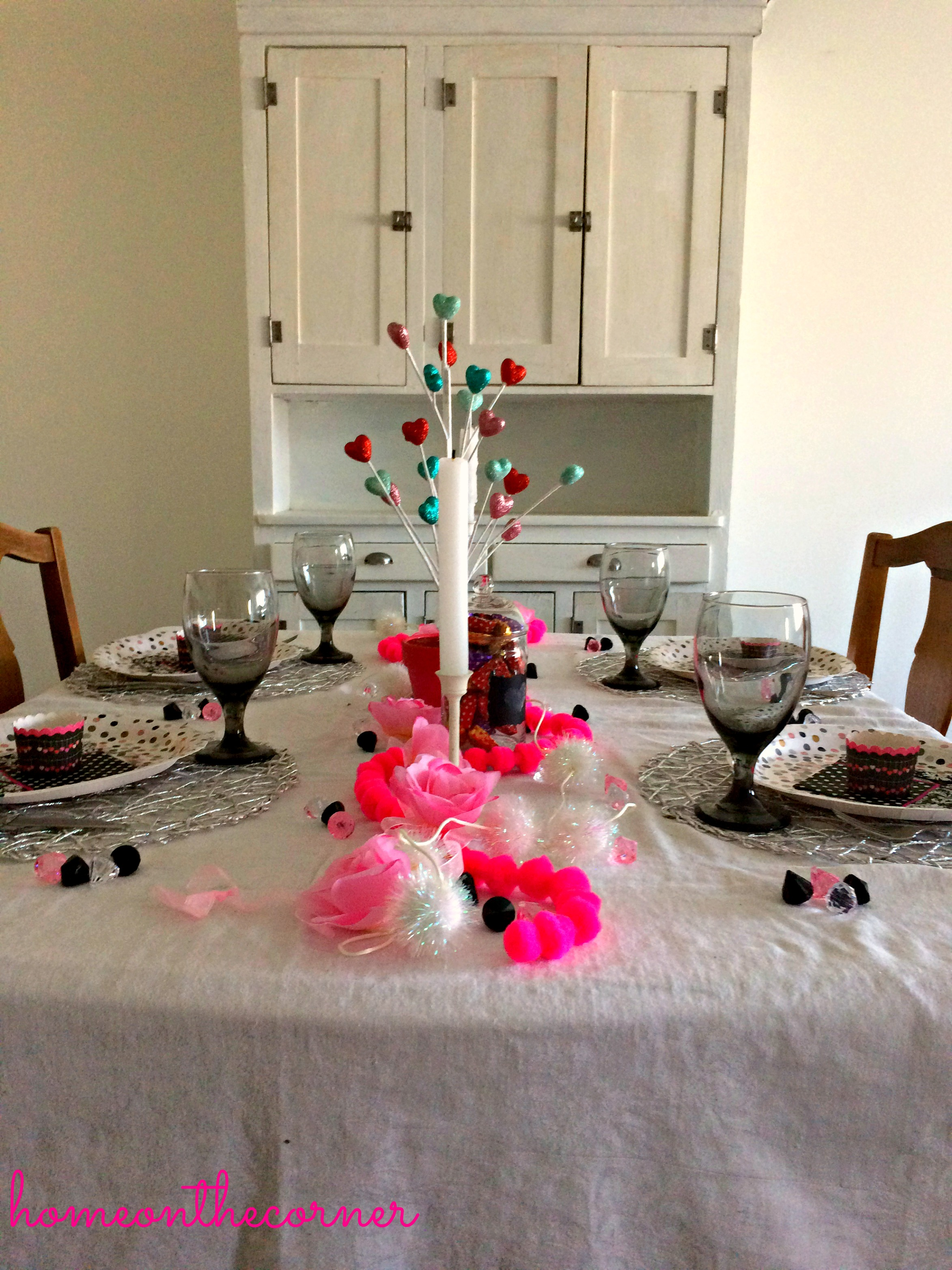 Valentine's Day Tablescape Full