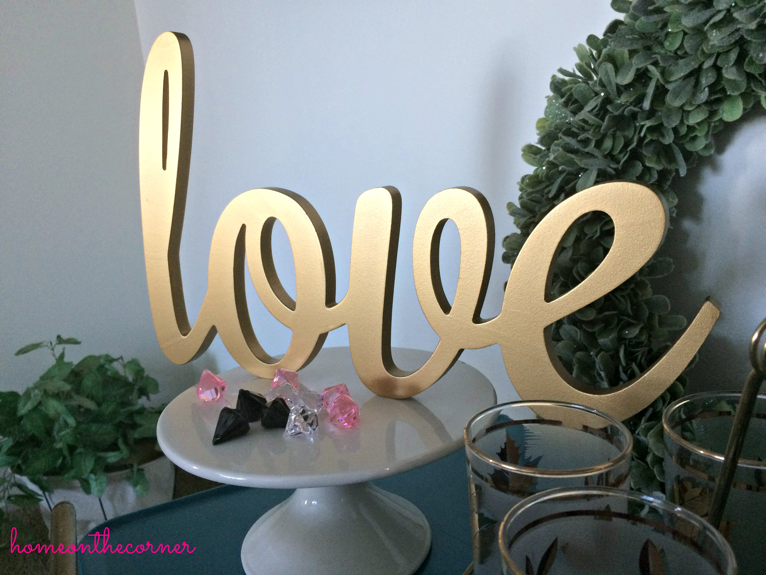 Valentine's Day Tablescape Love