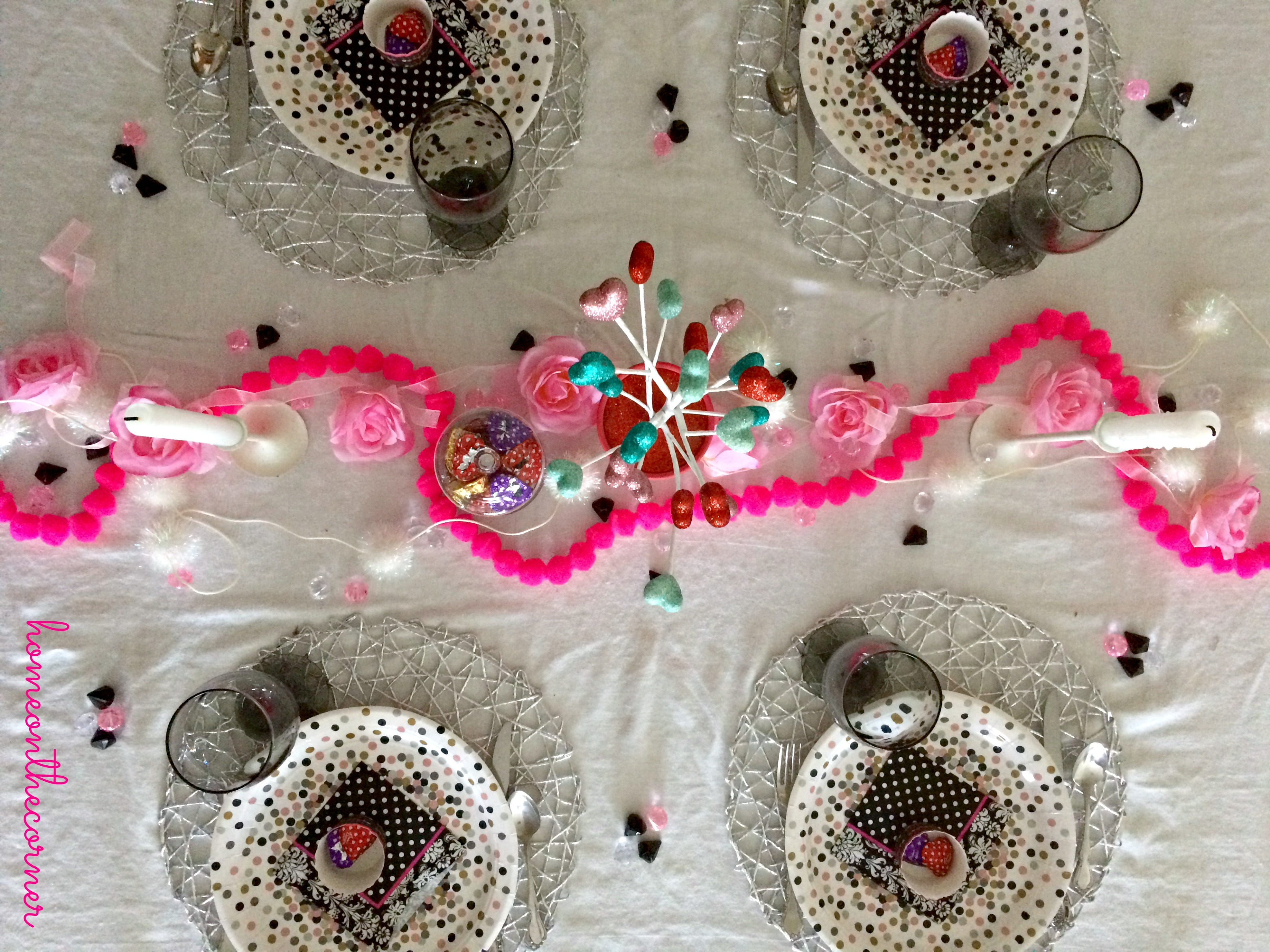 Valentine's Day Tablescape Overtop