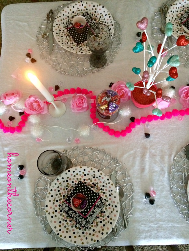 Valentine's Day Tablescape Plates