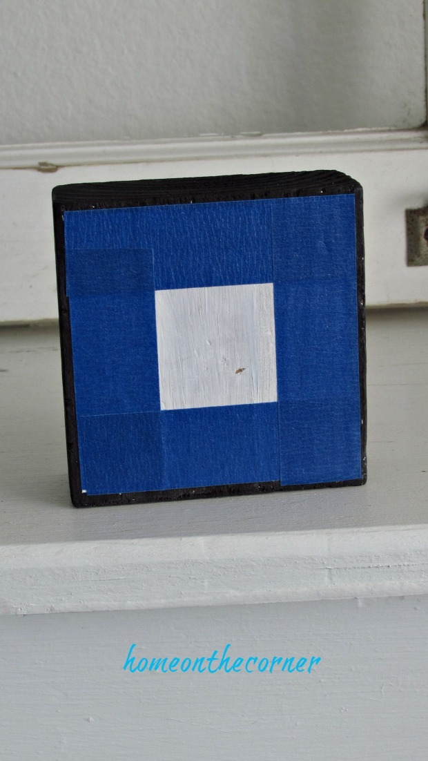 wooden block painters tape