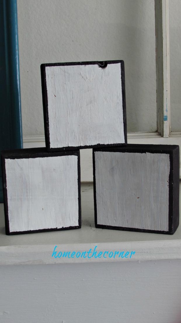 wooden blocks painted