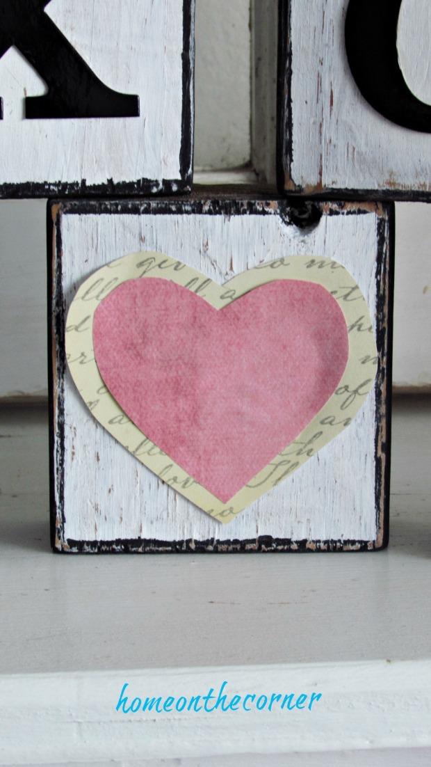 wooden blocks pink heart