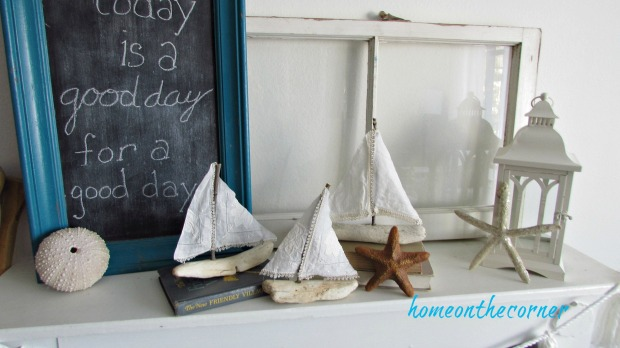 driftwood Sailboat display