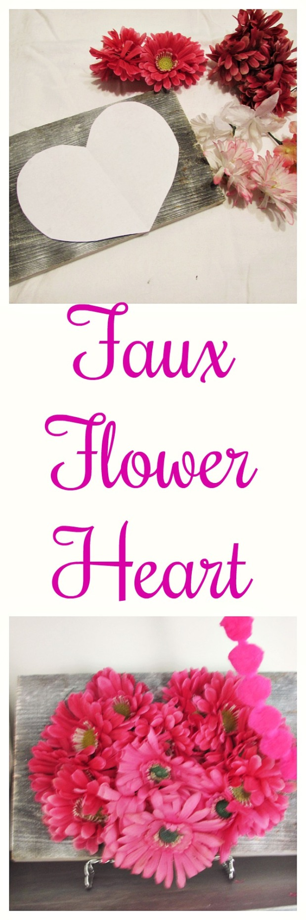 faux flower heart