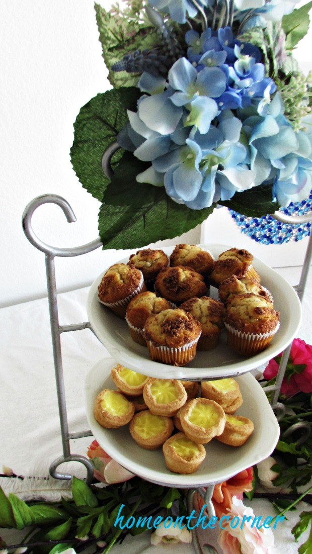 party table muffins and lemon tarts