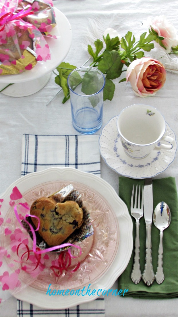 valentine spring tablescape pink vintage place setting tea cup