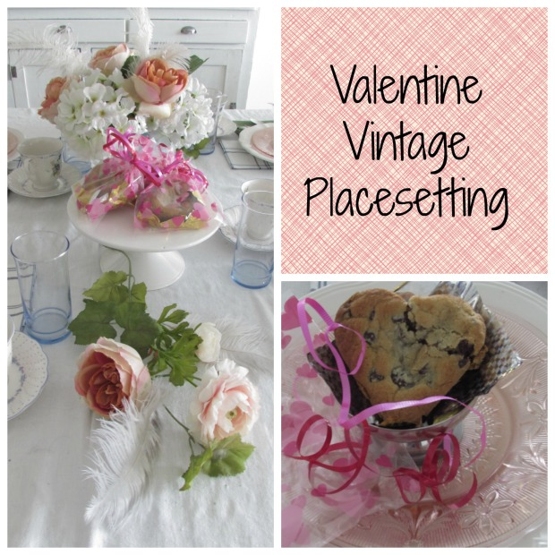 valentine vintage placesetting title
