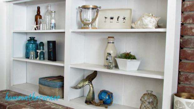 family room bookshelves full view