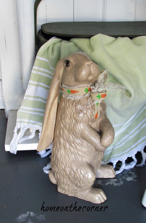 spring entryway ceramic rabbit - Copy