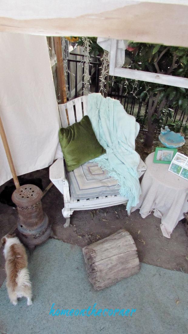 backyard gazebo pillows, blankets