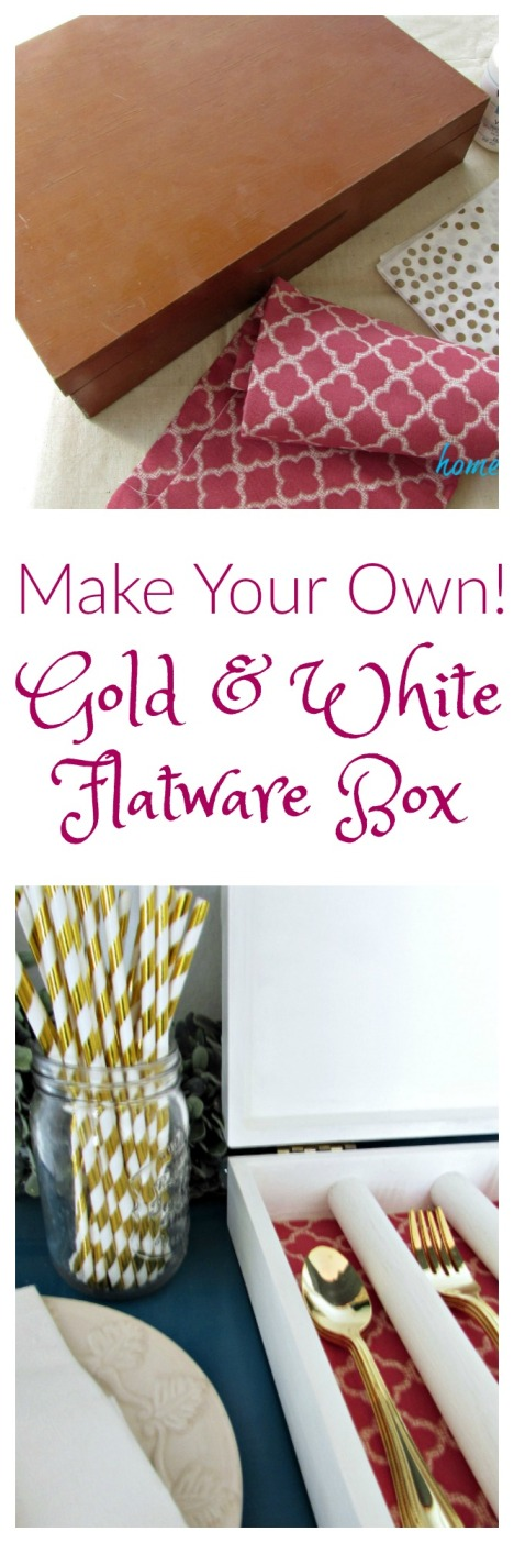 God and White Flatware Box Title