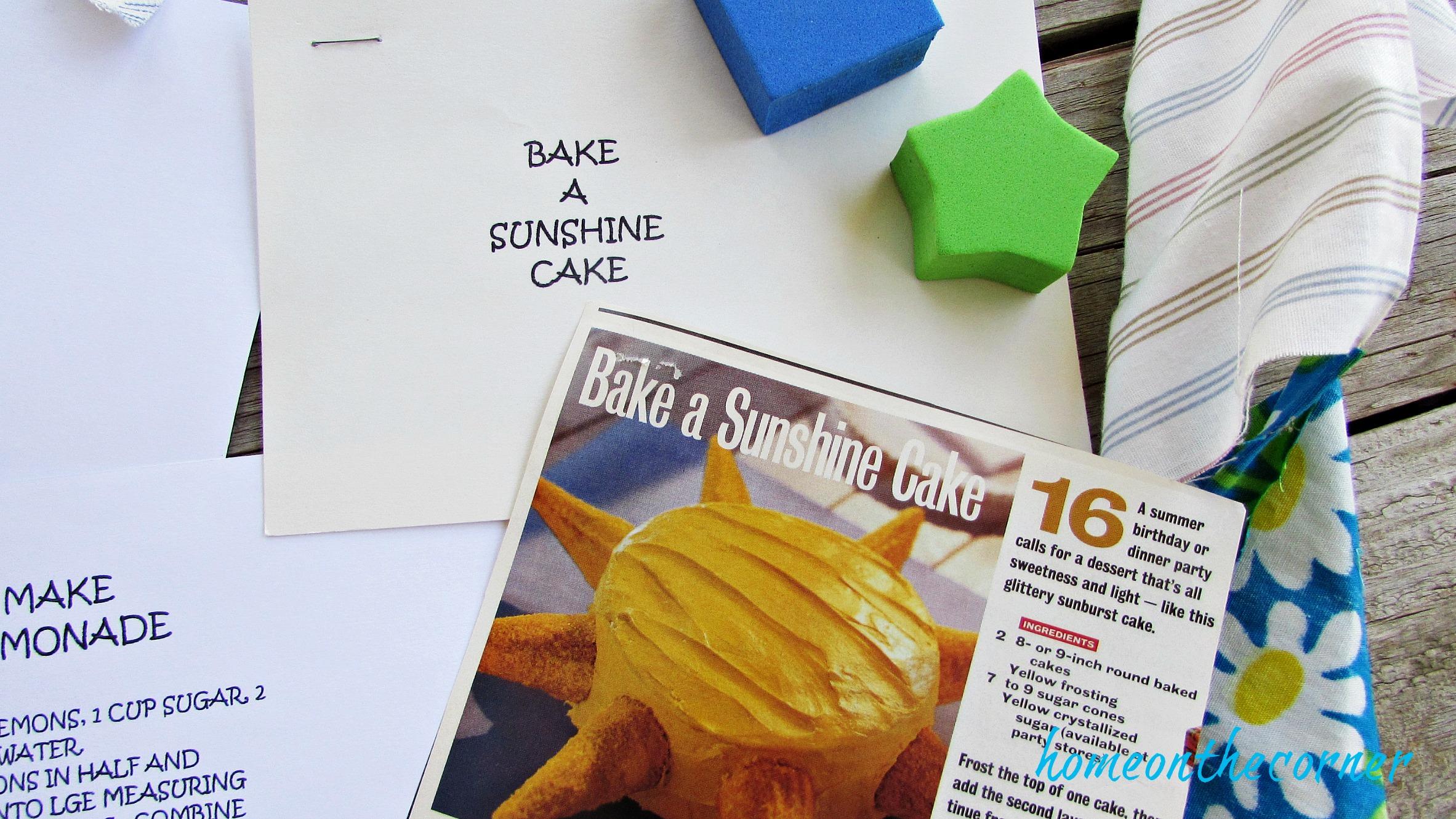 Summer Fun Ideas for kids bake a cake