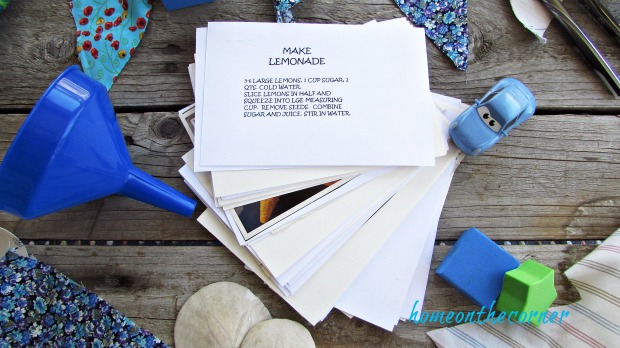 summer fun ideas stack of cards and ideas