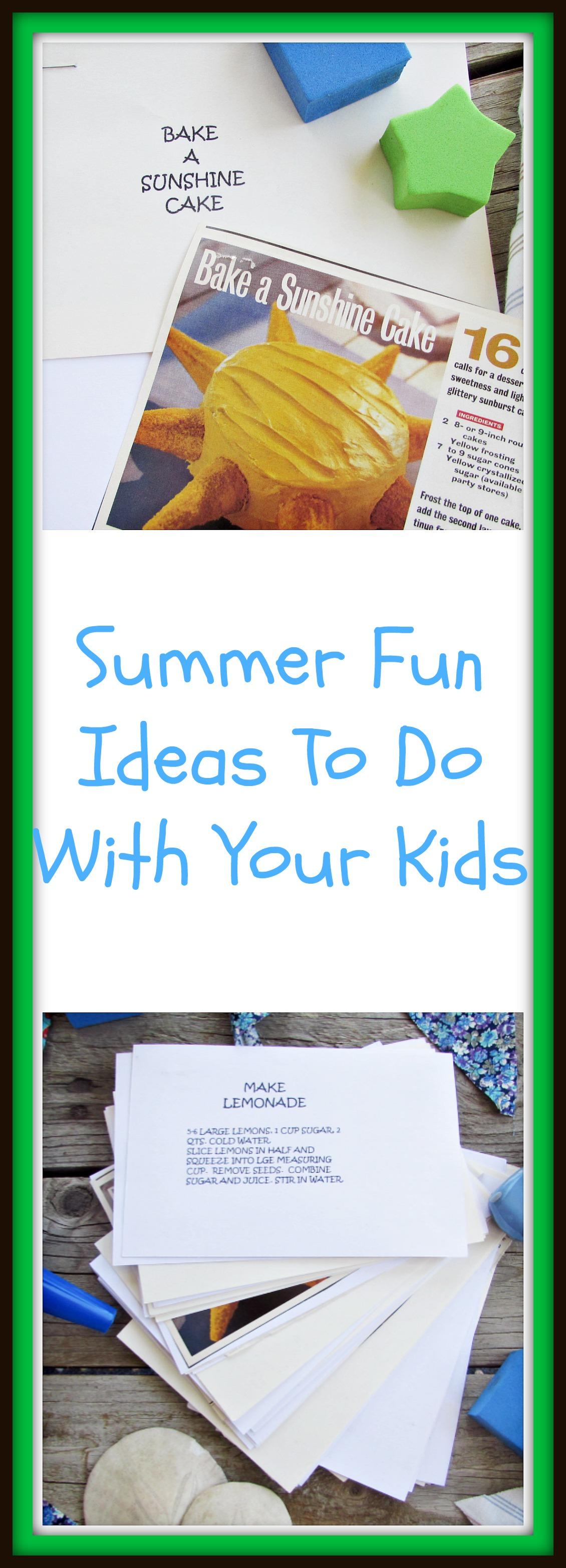 summer fun ideas title
