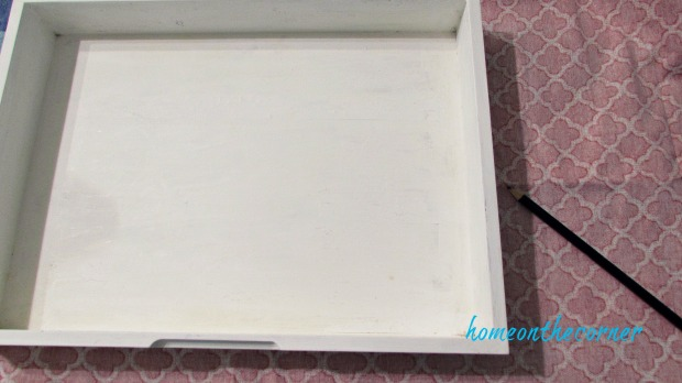 wooden box white paint flatware