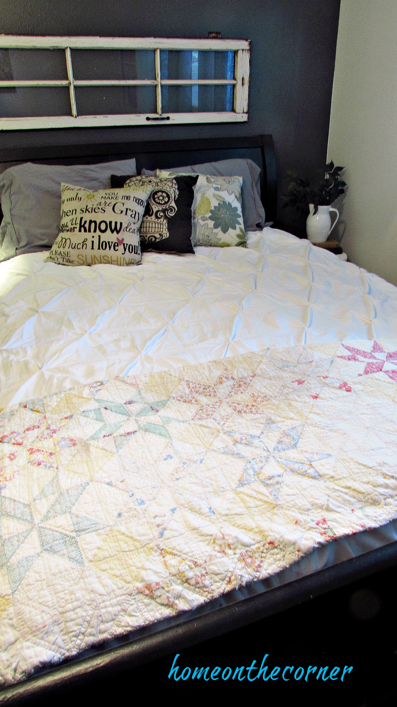 Guest Room Makeover Bed with Quilt