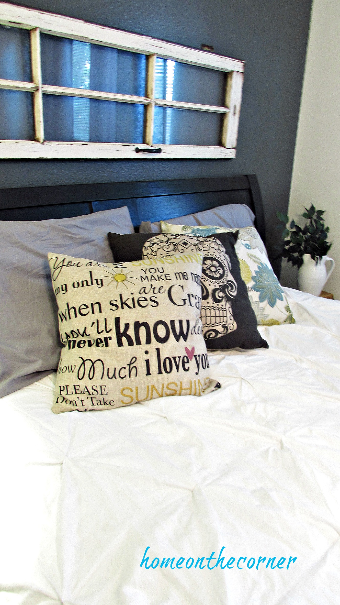 Guest Room Makeover Throw Pillows You Are My Sunshine