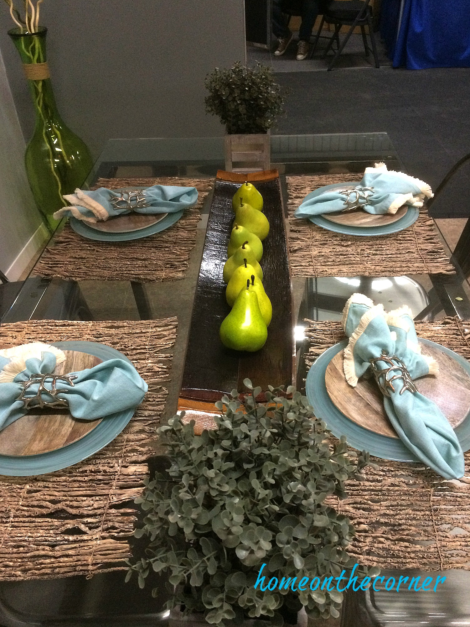 home improvement show turquoise table setting