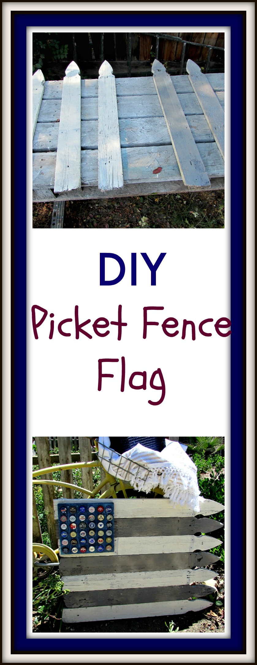 Picket Fence Flag Title