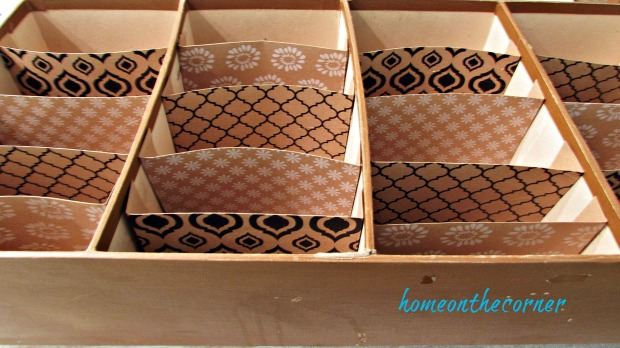 seasehll box makeover with dividers