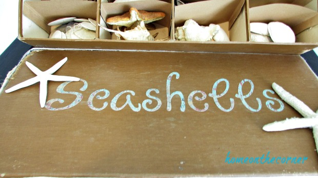 seashell box makeover shell lid and strfish