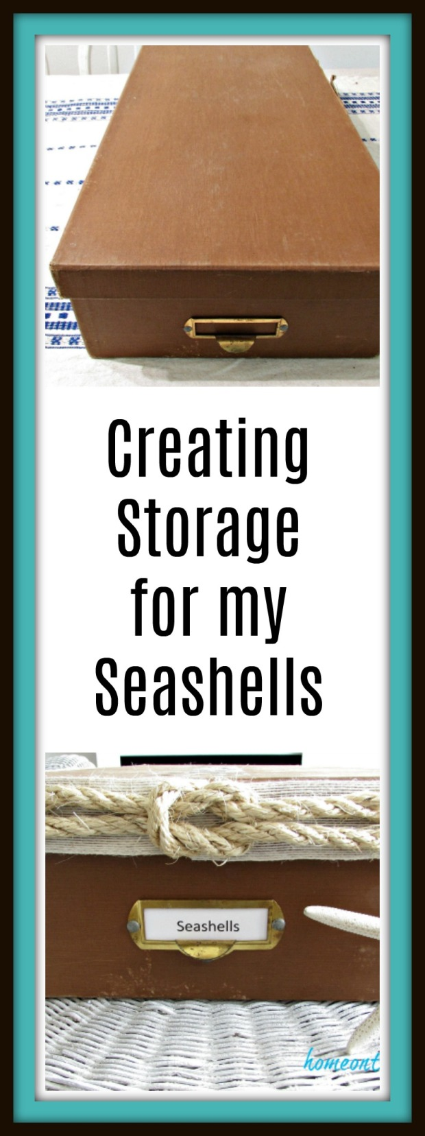 Seashell box makeover title