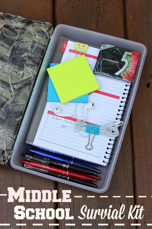 MIddle School survival kit