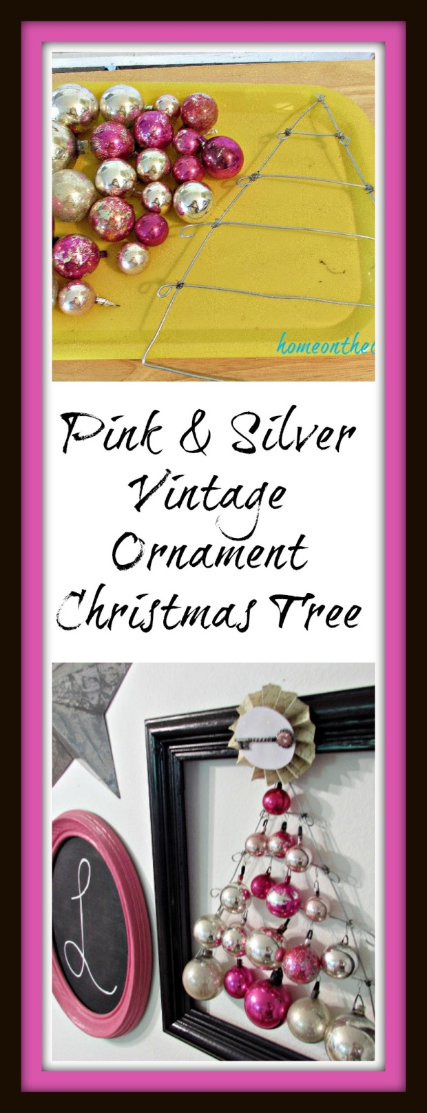 Pink and Silver Ornament Tree Title