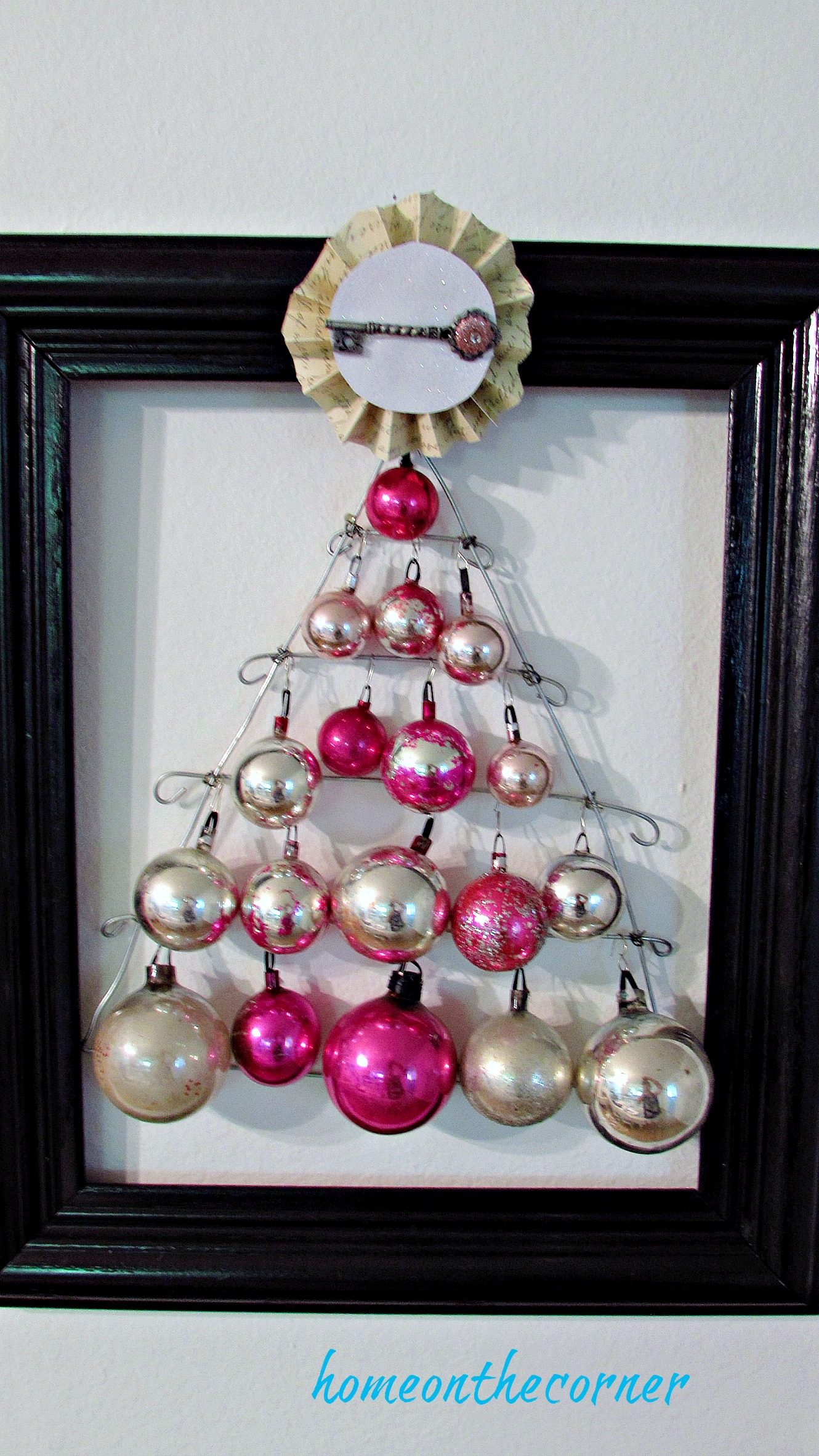 pink christmas tree ornament tree topper