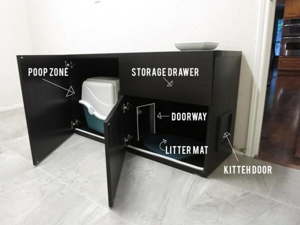 cat box cabinet