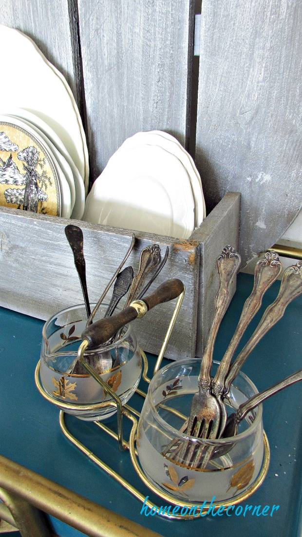 early fall dining room vintage silverware