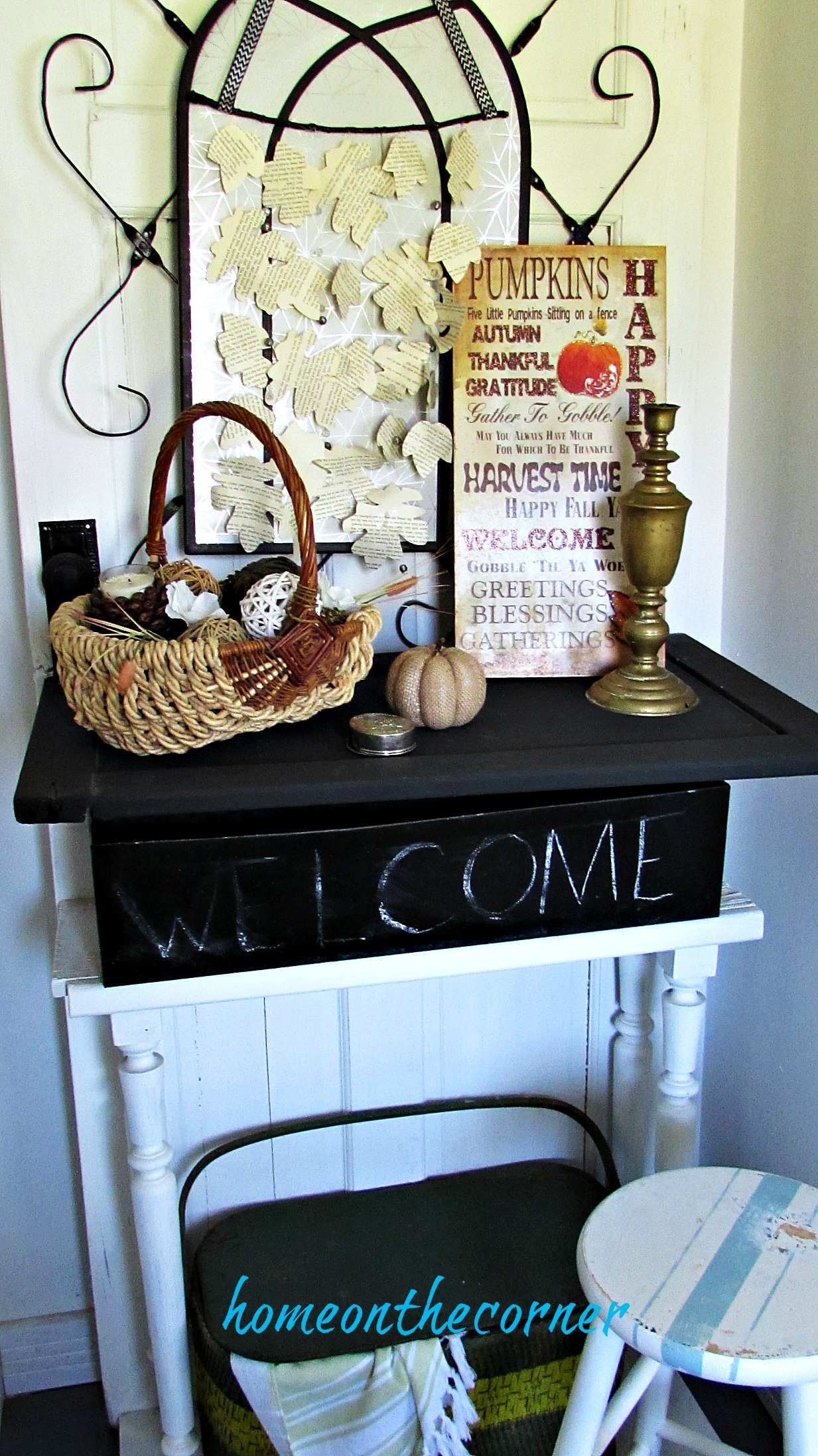 early fall entryway neutral colors texture