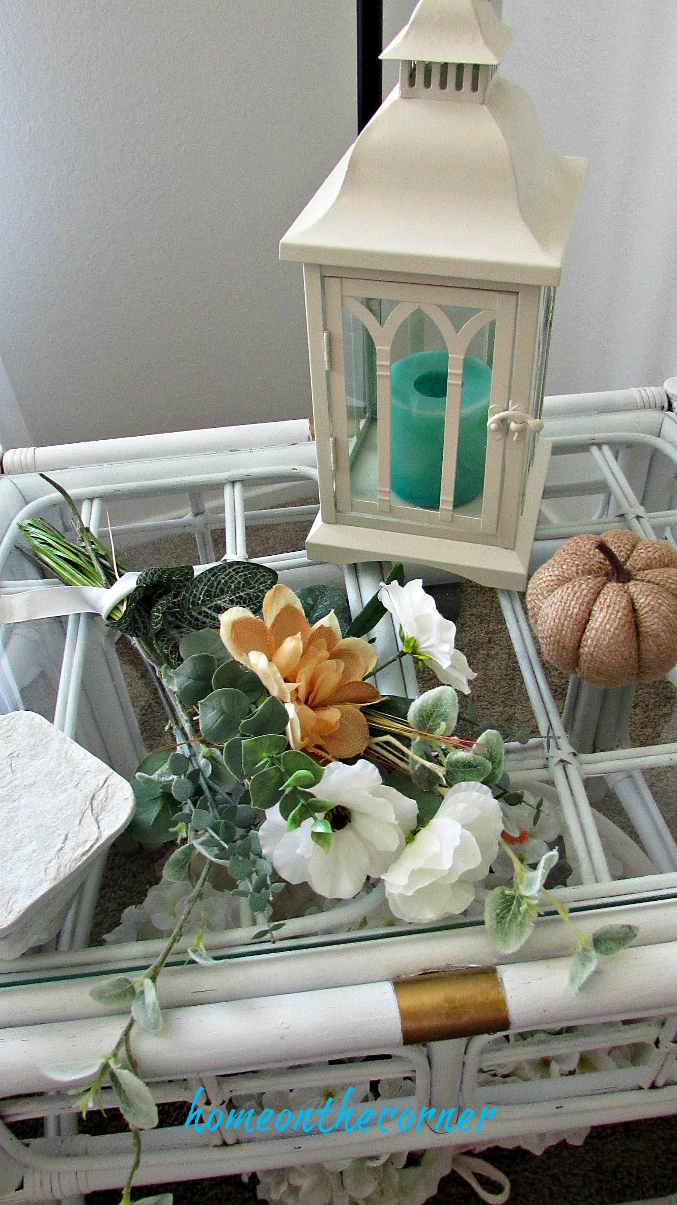early fall living room side table