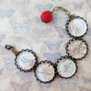 maps bracelet