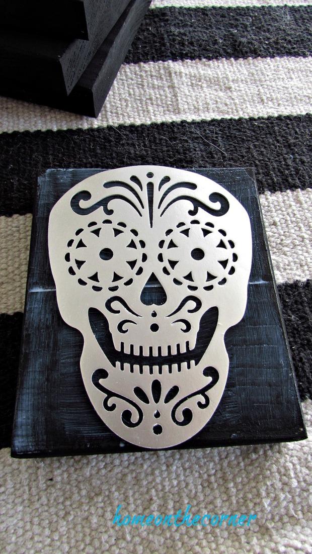 skull coaster paper skull