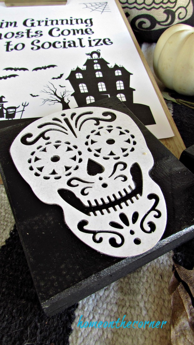 skull coasters with printable