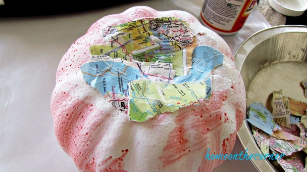 travel pumpkin decoupage