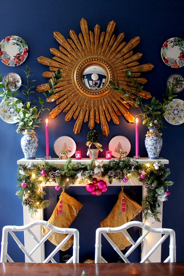 Blue Christmas Mantle.jpg