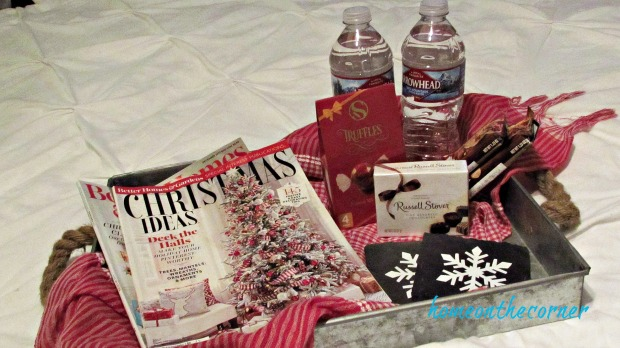 getting the guest room ready gift tray
