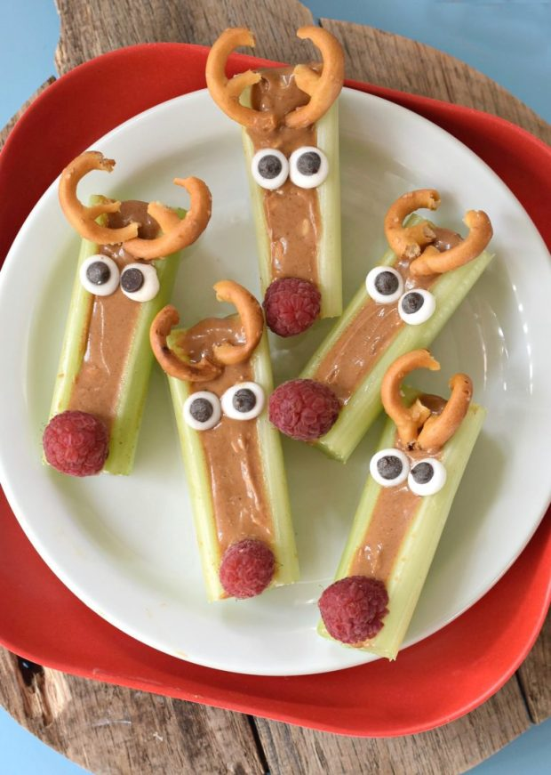 Peanut-Butter-Celery-Reindeer-Snack