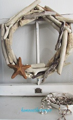 driftwood wreath bowl of shelves